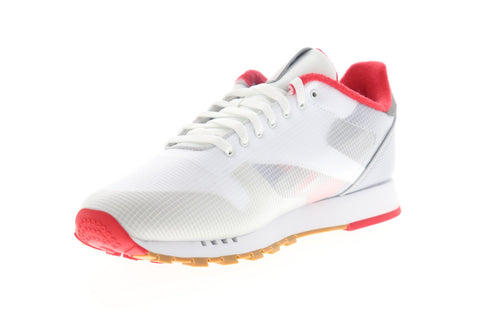 Reebok Classic Leather ATI EH0128 Mens White Nylon Low Top Sneakers Shoes