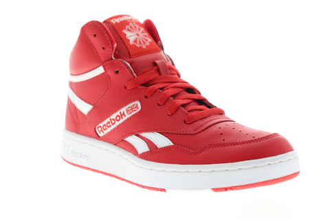 Reebok BB 4600 EH2137 Mens Red Leather Athletic Lace Up Basketball Shoes