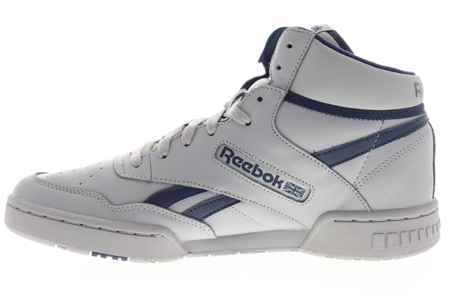 Reebok BB 4600 EH3333 Mens Gray Leather Athletic Lace Up Basketball Shoes 11
