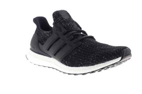Adidas Ultra Boost Mens Black Canvas Athletic Lace Up Running Shoes