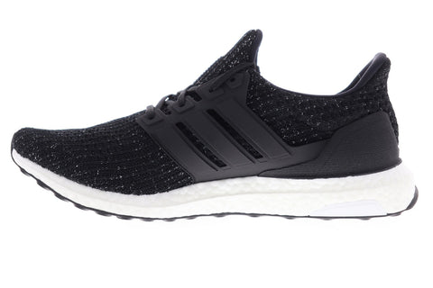 Adidas Ultra Boost F36153 Mens Black Canvas Lace Up Athletic Running Shoes