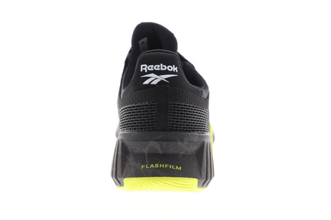 Reebok Flashfilm Train FU6651 Mens Black Mesh Athletic Cross Training Shoes