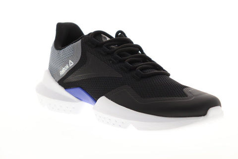 Reebok Split Fuel FU7506 Mens Black Mesh Athletic Lace Up Running Shoes