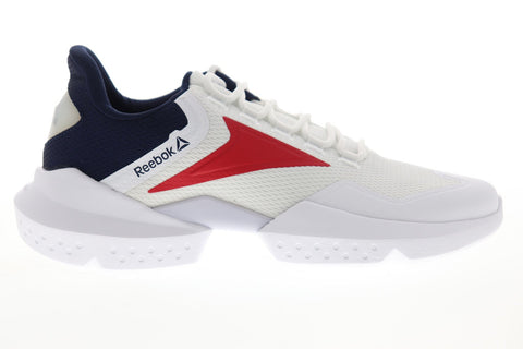 Reebok Split Fuel FU7508 Mens White Mesh Athletic Lace Up Running Shoes