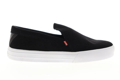 Globe Castro LYT GBCASTLYT Mens Black Suede Slip On Athletic Skate Shoes
