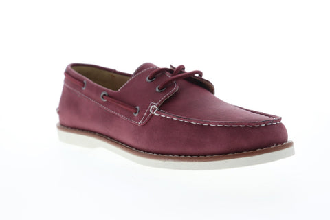Unlisted by Kenneth Cole Santon Boat Mens Red Canvas Lace Up Boat Shoes