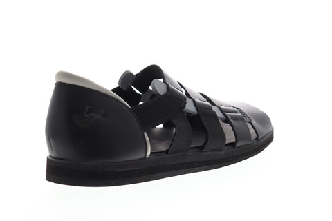Camper Spray K100083-006 Mens Black Leather Slip On Sport Sandals Shoes