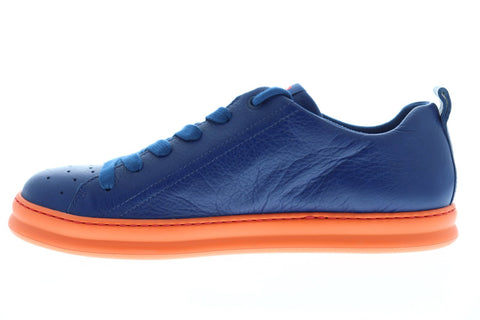 Camper Runner K100226-028 Mens Blue Leather Lace Up Low Top Sneakers Shoes