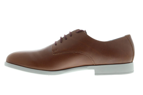 Camper Truman K100243-007 Mens Brown Leather Dress Lace Up Oxfords Shoes