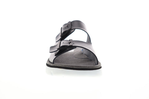 Camper Oruga K100286-001 Mens Black Leather Strap Slides Sandals Shoes