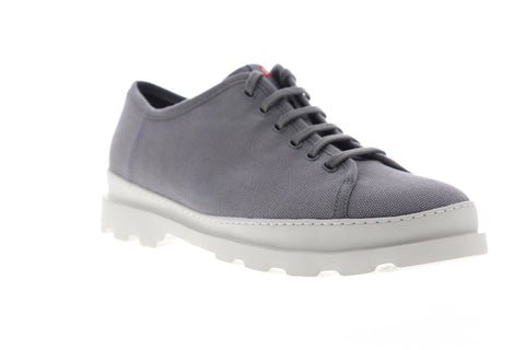 Camper Brutus K100294-005 Mens Gray Canvas Lace Up Low Top Sneakers Shoes