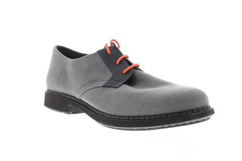 Camper Neuman K100359-006 Mens Gray Canvas Casual Lace Up Oxfords Shoes