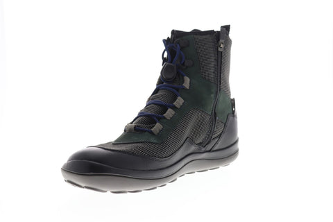 Camper Peu Pista K300255-001 Mens Black Canvas Zipper Casual Dress Boots