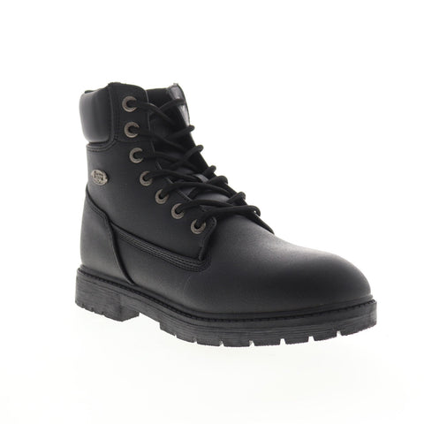 Lugz Brace HI MBRACHSPV-001 Mens Black Leather Lace Up Casual Dress Boots Shoes