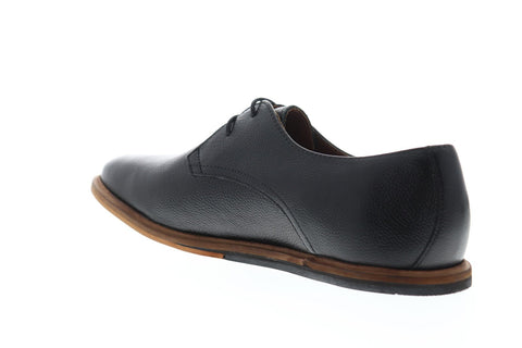 Frank Wright Busby Mens Black Leather Casual Dress Lace Up Oxfords Shoes
