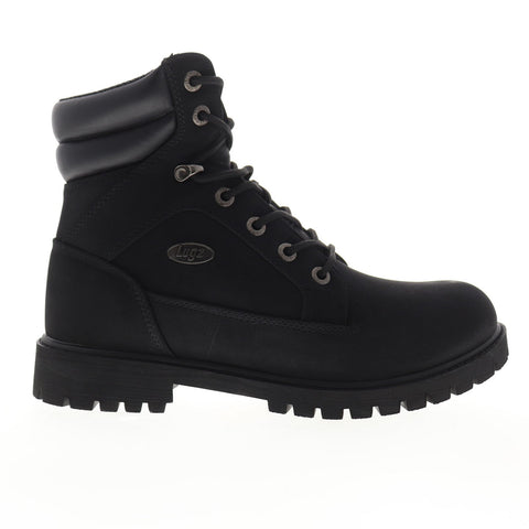 Lugz Tactic WR MTACTD-001 Mens Black Nubuck Lace Up Casual Dress Boots Shoes