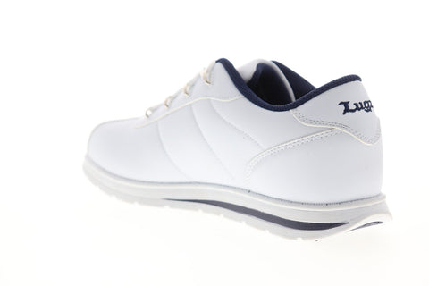 Lugz Zrocs MZRCSV-140 Mens White Leather Lace Up Low Top Sneakers Shoes