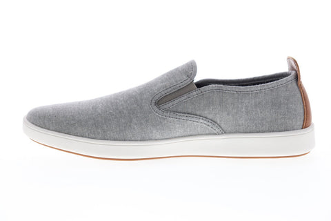 Steve Madden P-Ginno Mens Gray Canvas Slip On Sneakers Shoes