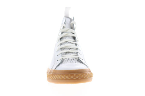 PF Flyers TS Rambler PM16BS1Y Mens White Leather High Top Lace Up Sneakers Shoes