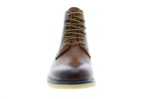 Robert Graham Finch Mens Brown Leather Lace Up Casual Dress Boots Shoes