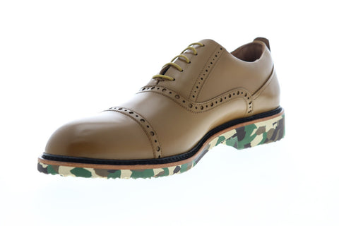 Robert Graham Osborne RGC5164 Mens Brown Leather Dress Lace Up Oxfords Shoes