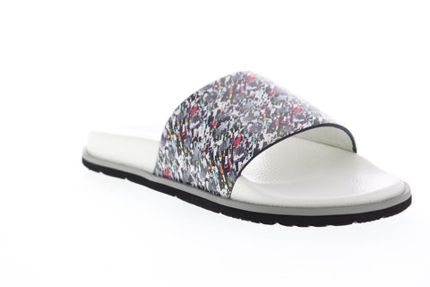 Robert Graham Maxfield RGF5216 Mens White Synthetic Slip On Slides Sandals Shoes