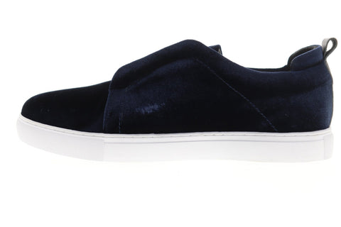 Robert Graham Bradshaw RGL5125 Mens Blue Canvas Slip On Sneakers Shoes