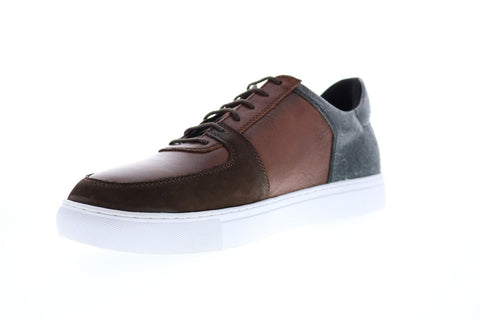 Robert Graham Chadwick RGL5130 Mens Brown Leather Lace Up Lifestyle Sneakers Shoes