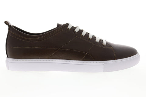 Robert Graham Blackburn RGL5132 Mens Brown Leather Lace Up Low Top Sneakers Shoes