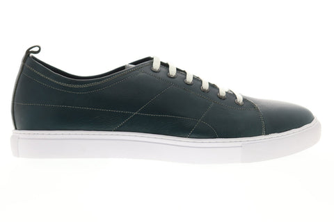 Robert Graham Blackburn RGL5132 Mens Green Leather Lace Up Low Top Sneakers Shoes