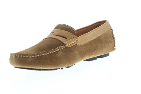 Robert Graham Manduca RGS5002 Mens Brown Suede Casual Slip On Loafers Shoes