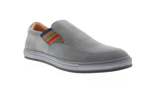 Robert Graham Avenida RGS5007 Mens Gray Nubuck Slip On Sneakers Shoes
