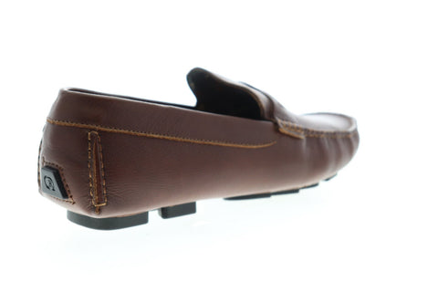 Robert Graham Hart RGS5100 Mens Brown Leather Casual Slip On Loafers Shoes