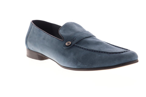 Robert Graham Norris RGS5139 Mens Blue Suede Casual Slip On Loafers Shoes