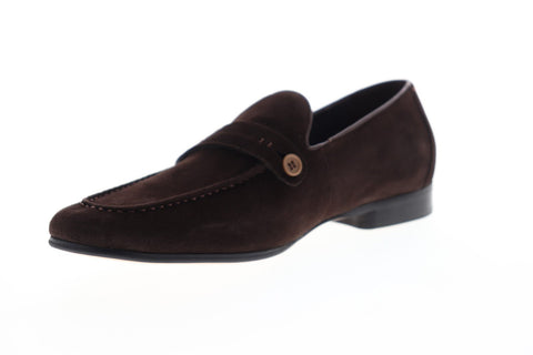 Robert Graham Norris RGS5139 Mens Brown Suede Casual Slip On Loafers Shoes