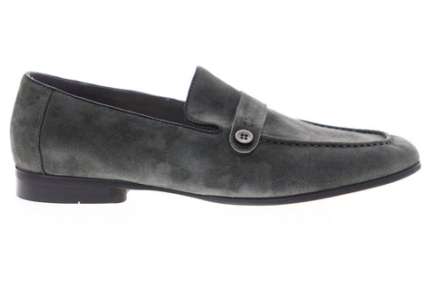 Robert Graham Norris RGS5139 Mens Gray Suede Casual Slip On Loafers Shoes