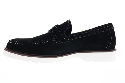 Robert Graham Dyson RGS5228 Mens Black Suede Penny Loafers & Slip Ons Shoes