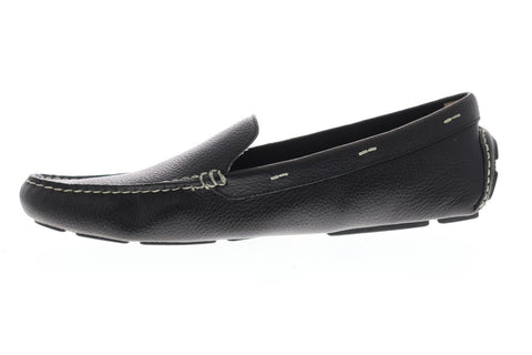 Tommy Bahama Pagota Mens Black Leather Casual Dress Slip On Loafers Shoes