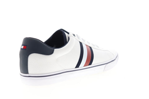 tommy hilfiger pesto tmpesto mens white leather casual