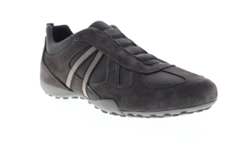 Geox U Snake U3207R022MEC9AL6 Mens Gray Suede Casual Lace Up Loafers Shoes