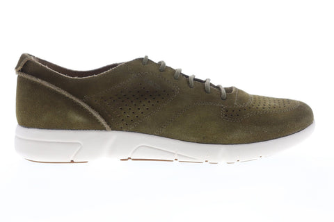 Geox U Brattley U721PA00022C3704 Mens Green Suede Low Top Sneakers Shoes