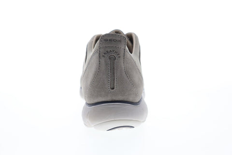 Geox U Nebula U72D7A00022C5097 Mens Gray Suede Slip On Sneakers Shoes
