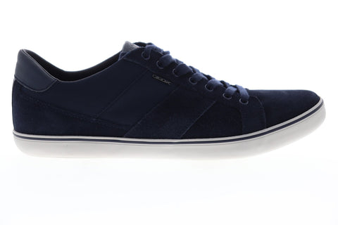 Geox U Box U74R3I02211C4002 Mens Blue Suede Lace Up Low Top Sneakers Shoes