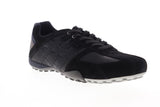 Geox U Snake U8207E022MEC9369 Mens Black Suede Lace Up Low Top Sneakers Shoes