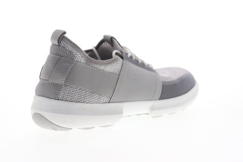Geox U Traccia U823RB06KNHC1236 Mens Gray Canvas Lace Up Low Top Sneakers Shoes
