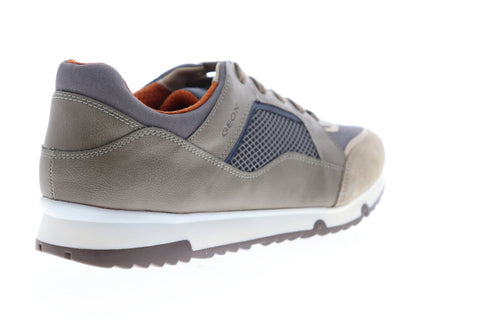 Geox U Wilmer U823XA01422C5Z9A Mens Gray Mesh Lace Up Low Top Sneakers Shoes
