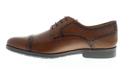 Geox U Hilstone 2Fit U824PA00043C6001 Mens Brown Casual Lace Up Oxfords Shoes