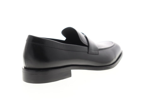 Geox U Saymore U825LD00043C9999 Mens Black Leather Dress Slip On Loafers Shoes