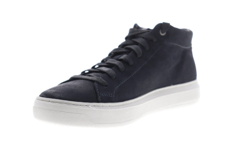 Geox U Deiven U845WA000LTC4002 Mens Blue Leather Lace Up Low Top Sneakers Shoes