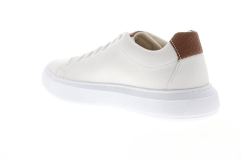 Geox U Deiven U845WB00085C1000 Mens White Leather Low Top Sneakers Shoes